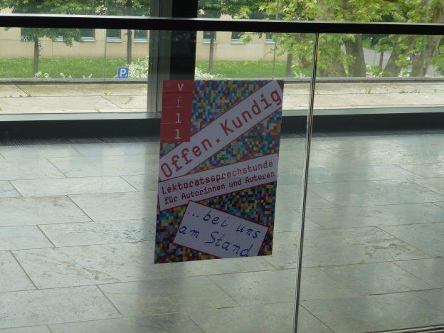 Lektorenverband VFLL Lektoratssprechstunde Autorenmesse